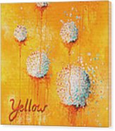 Yellow Wood Print by Michelle Boudreaux