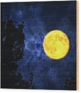 Yellow Moon Wood Print by Dan Quam