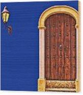 Door And Lamp Wood Print