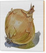 Yellow Onion Wood Print