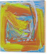 Yellow -orange  Window. Wood Print