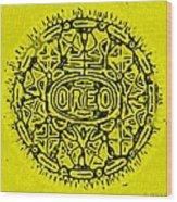 Yellow Oreo Wood Print