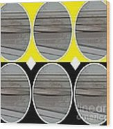 Yellow Oval Wood Print