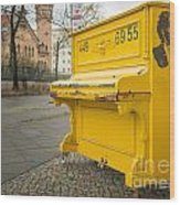 Yellow Piano Beethoven Wood Print