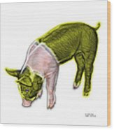 Yellow Piglet - 0878 Fs Wood Print