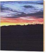Yellow Pink Blue Skies Wood Print by Regina McLeroy