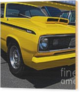 Yellow Plymouth Duster Wood Print