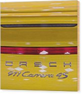 yellow Porsche Wood Print