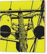 Yellow Power Wood Print