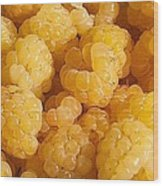 Yellow Raspberry Abstract Wood Print