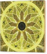 Yellow Rays Wood Print