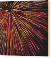 Yellow Red Firework Explosion Wood Print