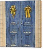 Yellow Ribbons Wood Print