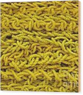 Yellow Rope Stack Wood Print