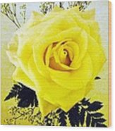 Yellow Rose 2 Wood Print