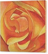 Yellow Rose #3 Wood Print