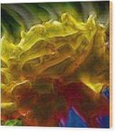 Yellow Rose Series - Colorful Fractal Wood Print
