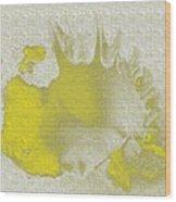 Yellow Shell Wood Print