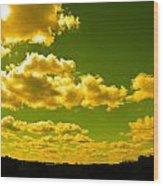Yellow Skies Wood Print