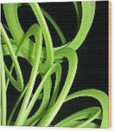 Yellow Slinky Wood Print