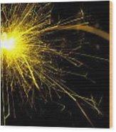 Yellow Sparkle Wood Print