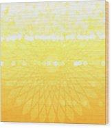 Yellow Spirograph Wood Print