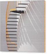 Yellow Staircase Wood Print