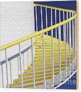 Yellow Steps 2 Wood Print