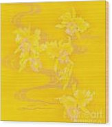 Yellow Stream Wood Print