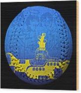 Yellow Submarine 2 Baseball Square Wood Print