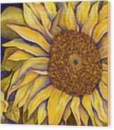 Yellow Sunflower Wood Print by Diane Ferron