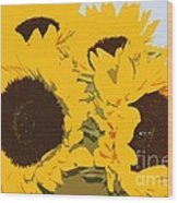 Yellow Sunflowers Wood Print