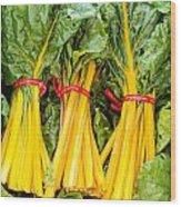 Yellow Swiss Chard Wood Print