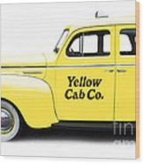 Yellow Taxi Cab Wood Print