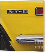 Yellow Triumph Spitfire Wood Print