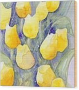 Yellow Tulips 1 Wood Print