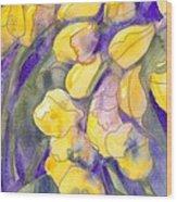 Yellow Tulips 3 Wood Print
