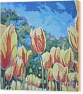 Yellow Tulips Wood Print by Andrei Attila Mezei