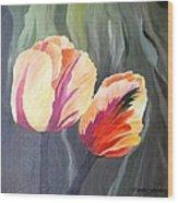 Yellow Tulips Wood Print by Carola Ann-Margret Forsberg