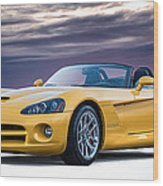Yellow Viper Convertible Wood Print
