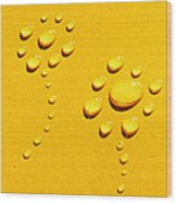 Yellow Water Flowers Wood Print by Kip Krause
