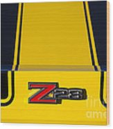 Yellow Z28 Wood Print