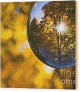 Yellow Zig Zag Wood Print