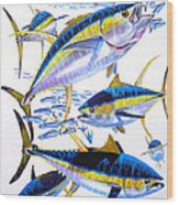 Yellowfin Run Wood Print