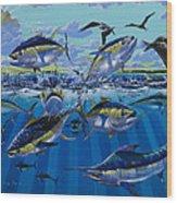 Yellowfin Run Off002 Wood Print