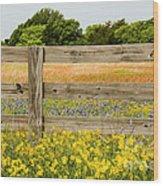 Yellows Plus Wood Print