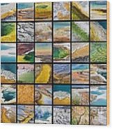 Yellowstone Colors Wood Print