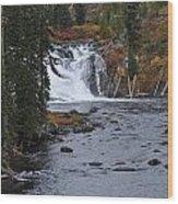 Yellowstone Falls Wood Print