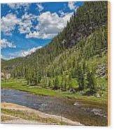 Yellowstone Gibbon River Wood Print