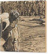 Yellowstone Hike Wood Print